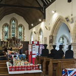 Bucknall (Lincs) St Margaret's church, interior during  church festival thumbnail