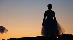 Girl Silhouette (Read2me) Tags: twilight pree cye tcfe hull girl teen dancer silhouette sky frombehind sooc thechallengefactorymoderatorschoice friendlychallengewinner ge