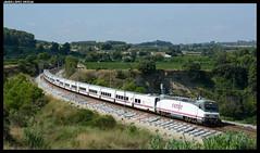 Euromed en Lavern (javier-lopez) Tags: ffcc railway train tren trenes adif renfe viajeros largorecorrido euromed 252 talgo s7 7c trenhotel th valencia barcelona lavern subirats lavernsubirats 11082018