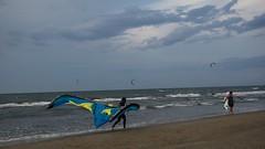 Wind (only_sepp) Tags: mare cielo oceano acqua persone sabbia spiaggia litorale adriatico rimini miramare vento colori vele surf onde nuvole