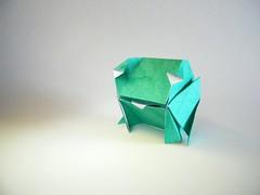Cube Frog - Go Kinoshita (Rui.Roda) Tags: origami papiroflexia rana rã sapo grenouille cube frog go kinoshita
