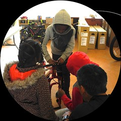 building bikes with Fast Freddie Foundation (citymaus) Tags: fast freddie foundation bike eastbay emeryville oakland kids bikes children lowincome low income housing affordable specialized bicycle