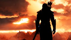 Silhouette | Skyrim (Stellasin) Tags: beauty beautiful blur clouds dark darkness destruction dragon mods engine weather reflection people fog flare game gaming graphics grass hot photography night sky skyrim rocks mountains mystery ruins screenshot sun sunrise sunset trees tomb caves water
