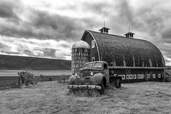 Elements of the Palouse (dshoning) Tags: farm barn truck fields clouds sky palouse washington