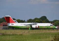 BAe RJ100 (Gerry Rudman) Tags: swiss airlines bae rj100 hb iys 5a flg cranfield bedfordshire air libya gcfae