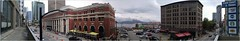 Waterfront Cordova Panorama Van18i10 LG (CanadaGood) Tags: canada bc britishcolumbia vancouver downtown panorama burrardinlet building architecture sign harbourcentre canadagood 2018 thisdecade color colour cameraphone starbucks lottery shopping