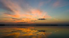 Sky & Water (ramseybuckeye) Tags: sky water clouds reflections sunset dusk bresler reservoir allen county ohio pentax art
