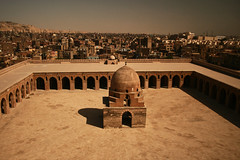 Ibn Tulun forecourt (sonofwalrus) Tags: canon eos400d slr cairo egypt middleeast africa city buildings mosques ibntulunmosque arches forecourt mosque masjid مصر القاهرة