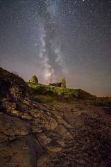Dunure castle (chrismarr82) Tags: nikon astro night stars d750 beach ayrshire scotland castle dunure