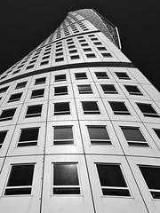 Turning Torso 2 (RobertLx) Tags: turningtorso architecture geometric bw monochrome building skyscraper window malmo sweden sverige scandinavia calatrava santiagocalatrava city lines twisting white nordic tower black