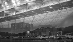 Better Photos In Boring Locations #2 (Rolf Siggaard) Tags: ~photography ~orientation landscape ~typeofphotography urbanphotography ~what ~structuresarchitecture architecturalelement architecture airport blackwhite building captureone environmental evening fujix100s groupofobjects hongkong manmade monochrome nightsky night structure structures travelling x100s transitstation