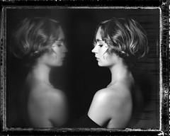 W. (denzzz) Tags: portrait polaroid55 expired largeformat 4x5 skancheli blackwhite blackandwhite instantfilm analogphotography filmphotography wista45dx fujinona 180mm walimex daylight1260