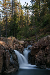 Falls into the Truckee (Middle aged Nikonite) Tags: waterfall long exposure california nikon d750 lanscape water river rocks trees nature outdoor flowing truckee