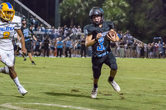 """PVHS v. Palatka-222 (mark.calvin33) Tags: football field sport ball """"high school"""" """"ponte vedra high pvhs block tackle rush run pass catch receiver blocker """"running quarterback fumble completion reception hike pitch snap """"friday night lights"""" fans stands kick """"end zone"""" """"nikon 2018 win athletics athletes """"night photography"""" """"sharks football"""" back d7100"""