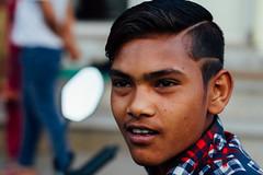 Haircut Model, Mathura India (AdamCohn) Tags: adamcohn india mathura vrindavan holi portrait wwwadamcohncom