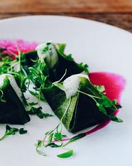 Kimchi Pods (ella.o) Tags: kimchi kimchipods green red foam vegan plate restaurant appetizer lunch
