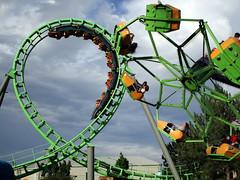 Sidewinder and Troika (BunnyHugger) Tags: amusementpark arrow colorado denver elitchgardens rollercoaster shuttleloop sidewinder troika