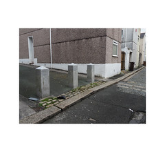 back lanes (chrisinplymouth) Tags: backlane bollard ground pavement grim plymouth devon england uk city cw69x wb xg stonehouse