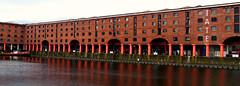 Royal Albert Docks, Liverpool, England (teresue) Tags: 2017 uk unitedkingdom greatbritain england merseyside liverpool oblong bookmark albertdock royalalbertdock tatemuseum liverpooldocks