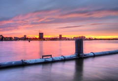 Zeeburger Sunset (Skylark92) Tags: nederland netherlands holland noordholland northholland amsterdam oost east zeeburg zeeburgereiland sunset zonsondergang hdr tonemapped multiple exposures rijnkanaal het ij t
