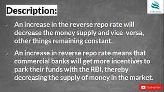 Reverse Repo Rate || RRR ||
