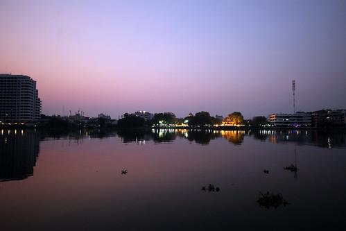 sunrise - Chao Phraya River, Bangkok, Thailand 2018