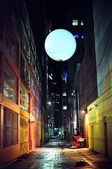 (Yutaka Seki) Tags: nikonem nikkor50mmf14 kodakgt800 expiredfilm nightshot streetphotography alley vancouverbc buildings dumpster grain homedeveloped unicolorpresskit argentixcac41powderkit orb suspended illumination