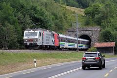 SOB 456 095, Lustnau-Tunnel, 9 augustus 2018 (Bart Donker) Tags: sob südostbahn re456 456095 lustnautunnel sattel sattelpass arthgoldau voralpenexpress vae luzern
