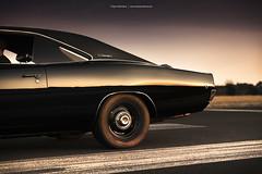 black 1968 Dodge Charger (Dejan Marinkovic Photography) Tags: 1968 dodge charger mopar muscle car american classic dog dishes steelies vinyltop black paint