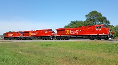 CP 8054/8047/8036 (MN transfer) Tags: canadianpacific railway cp cprail cpr locomotive ge generalelectric ac4400cwm rebuild rebuilt repainted beaverlogo cp8036 cp8047 cp8054