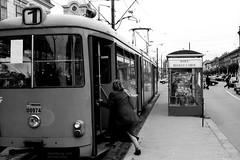 don't hurry.... (Drehscheibe) Tags: nikonf2 analogica blackwhite hp5plus tram