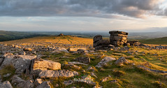 Crosslight (http://www.richardfoxphotography.com) Tags: great staple dartmoor national park outdoor clouds granite rock tor sky moorlan devon sunset panorama panoramic