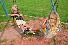 The Kids On The Swings (Joe Shlabotnik) Tags: swings aroostook violet 2018 august2018 everett maine playground vanburen afsdxvrzoomnikkor18105mmf3556ged