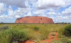Uluru (Graham`s pics) Tags: uluru ayersrock australia outback rock rockformation nt northernterritory redcentre landscape sightseeing travel tourism holiday vacation uluṟukatatjuṯanationalpark sky grass mountain