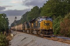 Dusky MAC (travisnewman100) Tags: csx train railroad rr freight unit grain locomotive sd70mac ge emd wa subdivision atlanta division g119 martin marietta siding signals sunset et44ah ac44cw yn3b yn2