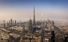 Iconic Skyline (hisalman) Tags: city cityscape aerialviedw aerialview dubai towers burjkhalifa uae rooftop