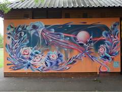 Cheltenham Paint Fest (DJLeekee) Tags: cheltenham paintfest 2018 park graffiti streetart fem sorcell