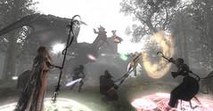 Warriors No.2, 決戦の時 (Miyabi Harucus 1102) Tags: friend fashion fantasy secondlife scene slavatar sexy dragon cosplay catwa maitreya tram forest