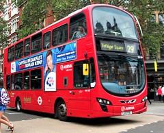 Arriva London HV127 on route 29 Charing Cross road 18/08/18. (Ledlon89) Tags: arrivalondon arriva bus buses london tfl transport wrightbus wright londonbus londonbuses londontransport centrallondon
