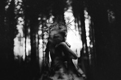 Temper (Arr Hart) Tags: arr hart portrait pagan witchcraft witch mystery dark soul dreadlocks monochrome grain silence quiet outdoor forest mood atmosphere melancholy emotive