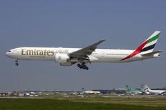 A6-EGQ | Emirates | Boeing B777-31H(ER) | CN 41076 | Built 2012 | DUB/EIDW 28/05/2018 (Mick Planespotter) Tags: a6egq emirates boeing b77731her 41076 2012 dub eidw 28052018 aircraft airport dublinairport collinstown nik 2018 sharpenerpro3 b777 flight