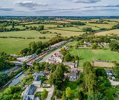 66154 at Heyford (robmcrorie) Tags: train car rover land jaguar bromwich castle oxfordshire barge basin canal station heyford 4 phantom drone class 60 66154 rail railway railfan enthusiast