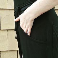 Black Jersey Overalls (kellyhogaboom) Tags: sewing bespoke bespokehogaboom vegantailor vegan thevegantailor handsewn homesewn knits knit knitfabrics overalls black jersey