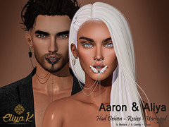 Aaron and Aliya septum set  @ The Avenue Event (eliyakay) Tags: secondlife septum unisex theavenueevent event lelutka white black sl jewelry nose avenue