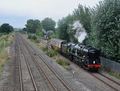 Backing to Bishop (James Passant) Tags: trains trainspotting 34052 lord dowding wcrc west coast railways company 5z46 laira bishops lydeard norton fitzwarren steamer kettle