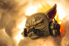 Fire Thief (3rd-Rate Photography) Tags: cat cathead flame fire japan vendingmachine toy toyphotography kasha canon 100mm macro 5dmarkiii jacksonville florida 3rdratephotography earlware 365