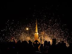 David Best's temple for Larry Harvey (kate beale) Tags: burningman brc 2018 city blackrockcity blackrockdesert nevada desert highdesert brc2018 dust thankslarry davidbest temple larryharvey memorial fireworks celebration
