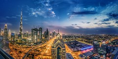 The Burj from the Shangri-la Rooftop (talv_ss) Tags: dubai uae unitedarabemirates middleeast burjkhalifa theburj burj downtown cityscape citylife city citylights worldcity shangrilahotel shangrila hotel rooftop rooftopview sheikhzayedroad architecture urban urbex longexposure wideangle sony a7riii a7r3 sonya7riii panoramic lighttrails travel travelphotography