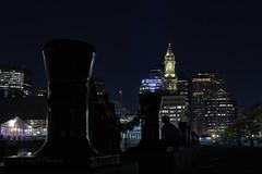 Long Wharf - Boston (Tom Slate) Tags: nightshots darkshots nighttime boston longwarf sony cityscape lowperspective nighttimephotography silhouette sonya77ii sonyalpha77ii