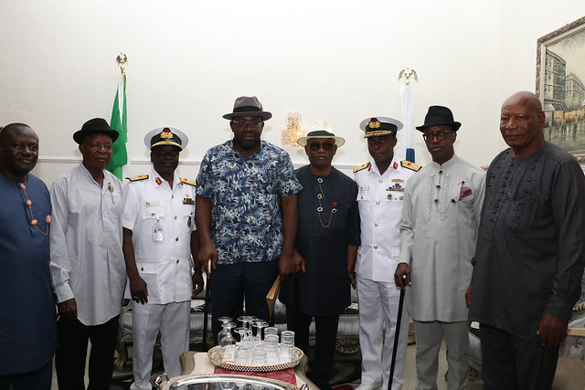HSDIckson- Condolence Visit BY Nigerian Navy Command Yenegoa. 24th August 2018